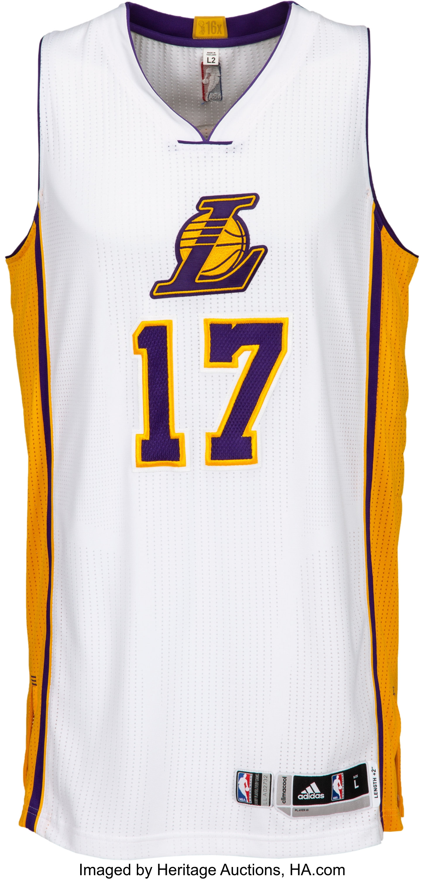 2014-15 Jeremy Lin Game Worn Los Angeles Lakers Jersey - Used 12 ...