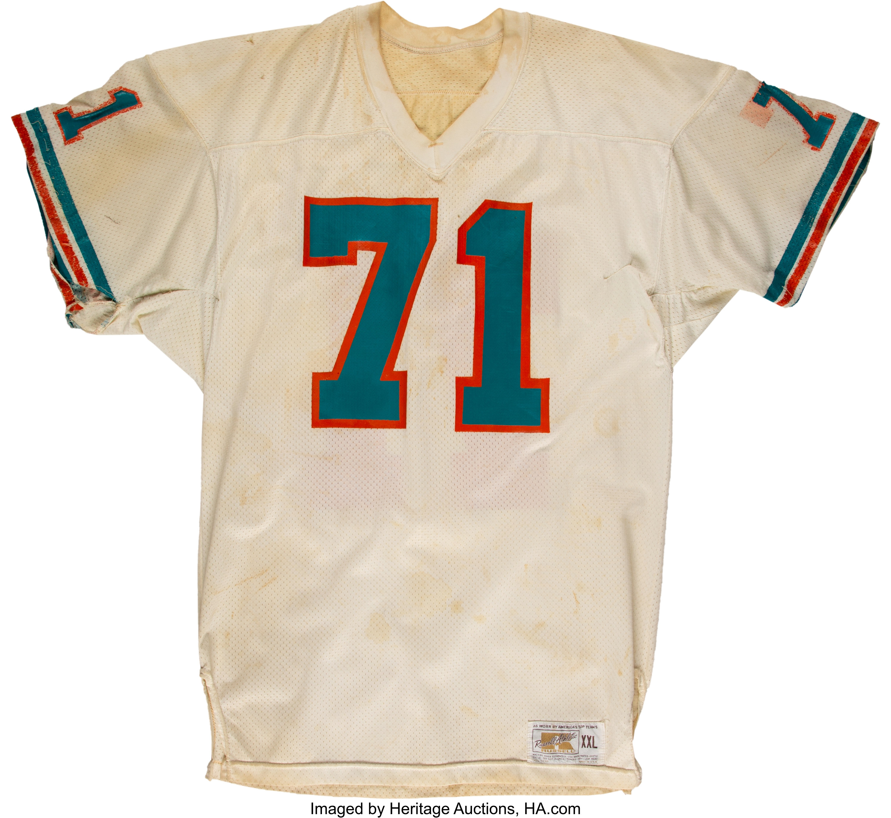 1978-79 Mike Current Game Worn Miami Dolphins Jersey.... Football ...