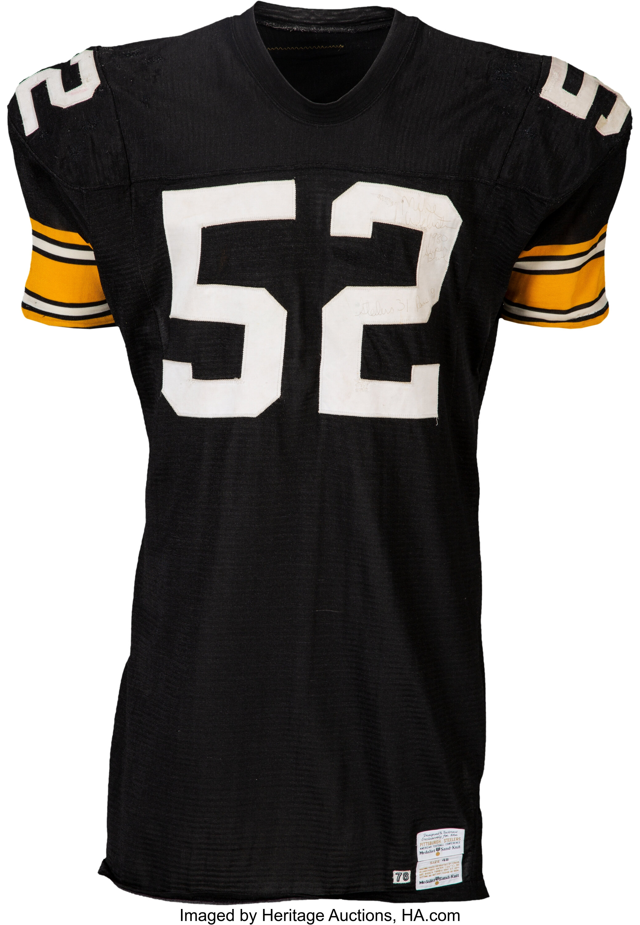 1978-79 Mike Webster Game Worn, Signed & Inscribed Pittsburgh ...