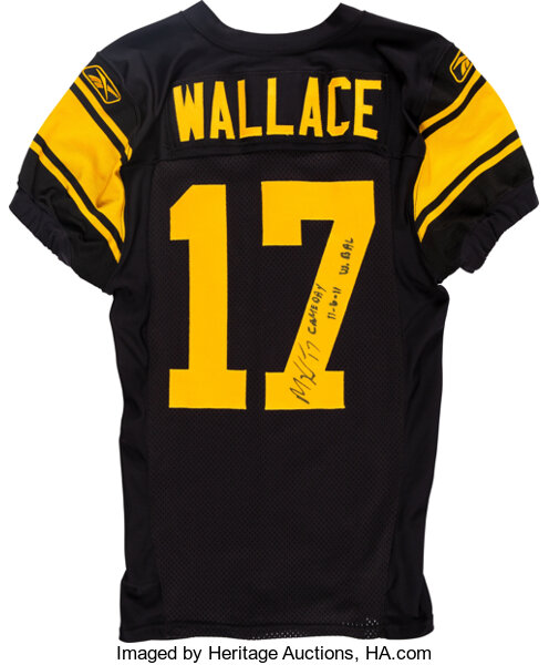 2011 Mike Wallace Game Worn & Unwashed Pittsburgh Steelers Jersey ...