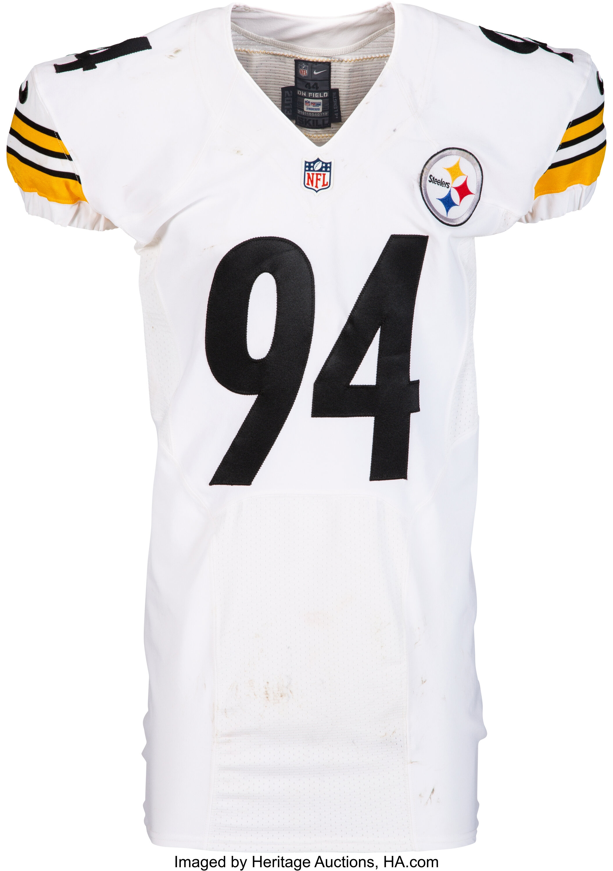 2013 Lawrence Timmons Game Worn & Unwashed Pittsburgh Steelers ...