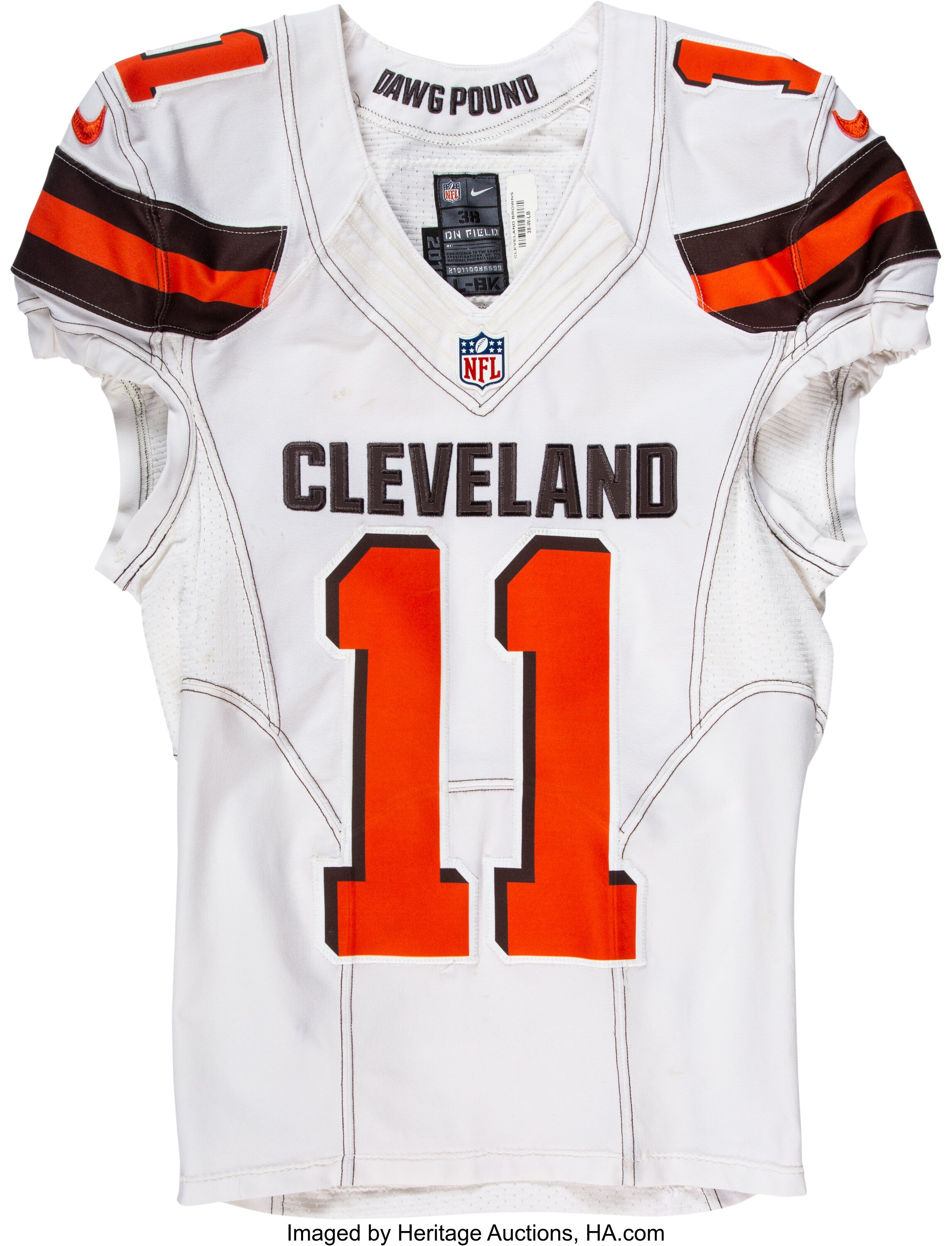 2016 Terrelle Pryor Game Worn & Unwashed Cleveland Browns | Lot ...