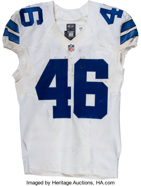 2016 Alfred Morris Game Worn & Unwashed Dallas Cowboys Jersey ...
