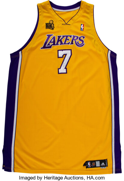 2009-10 Lamar Odom Game Worn & Signed Los Angeles Lakers Jersey ...