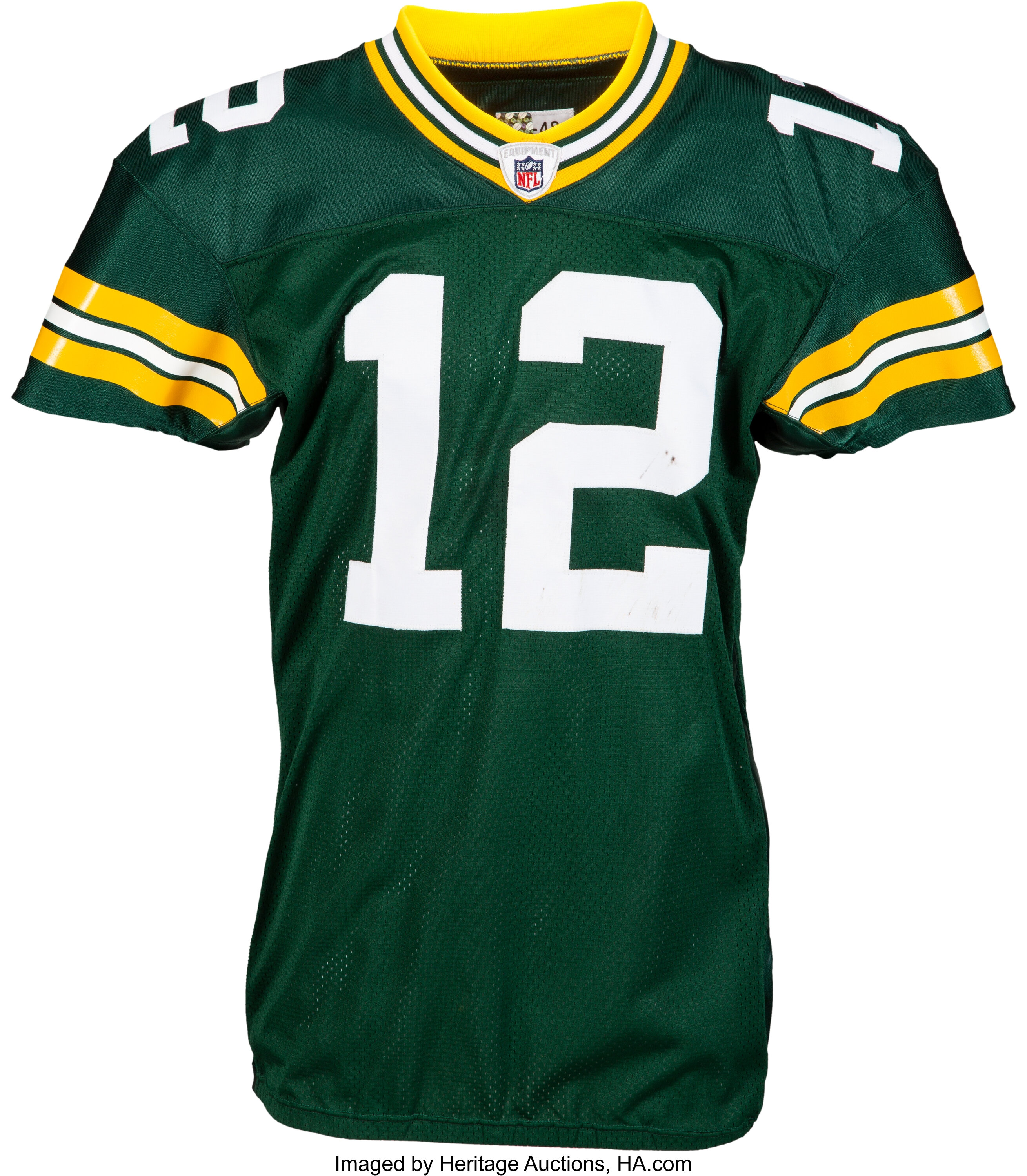 2010 Aaron Rodgers Game Worn, Unwashed Green Bay Packers | Lot ...