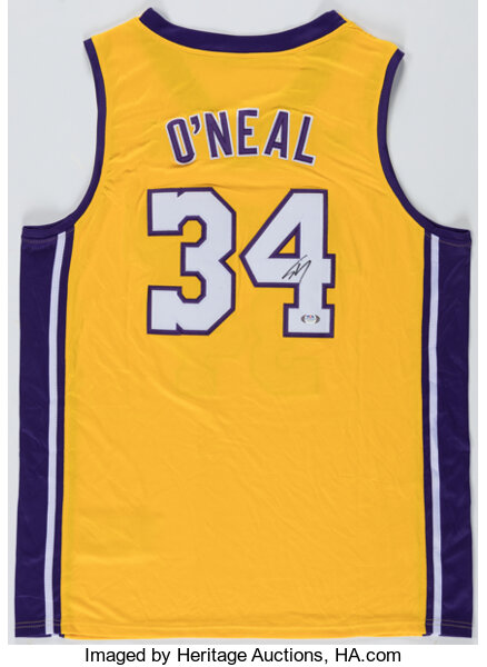 Shaquille O'Neal Signed Los Angeles Lakers Jersey.... Autographs ...