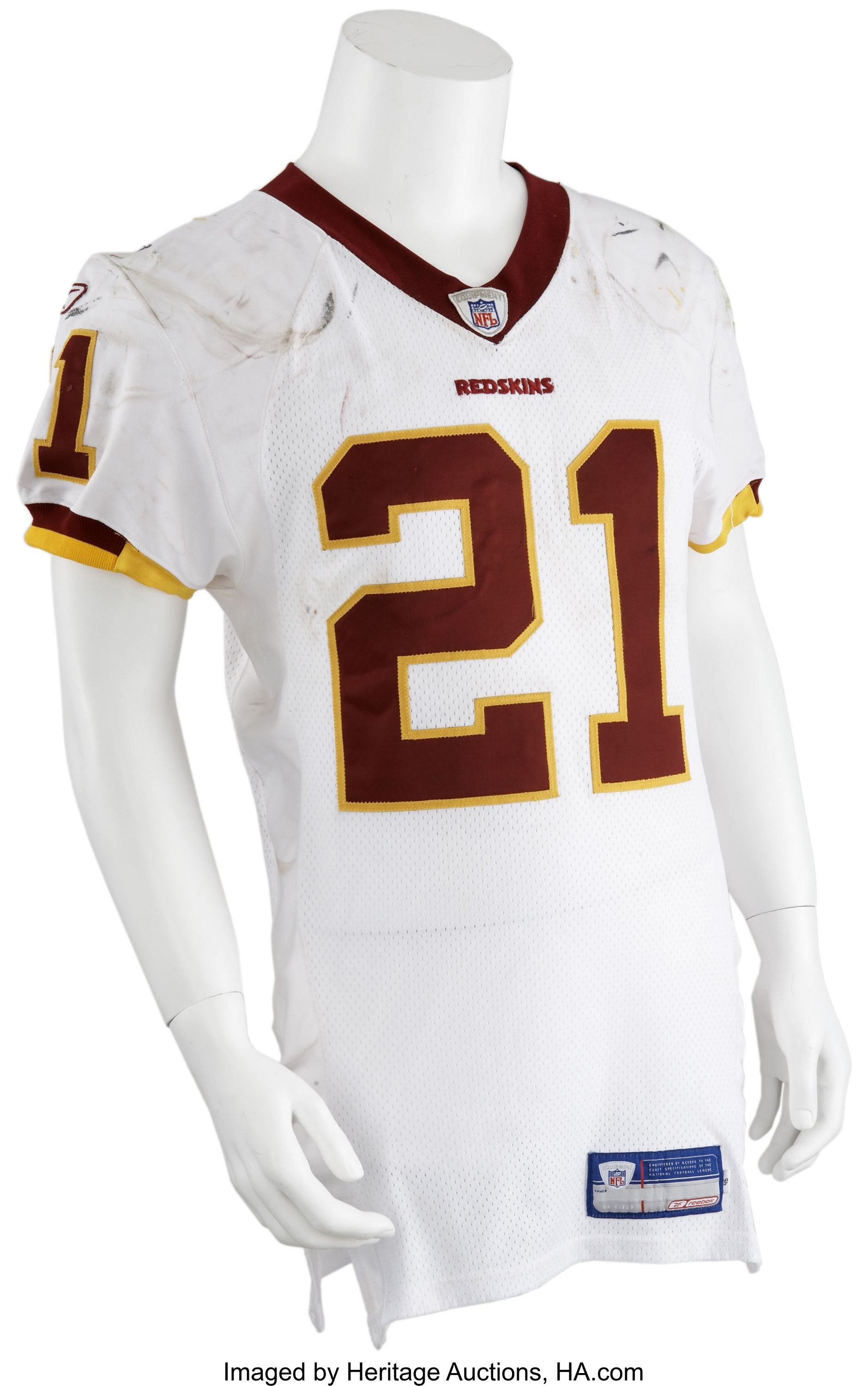 2006 Sean Taylor Game Worn Jersey.... Football Collectibles | Lot ...