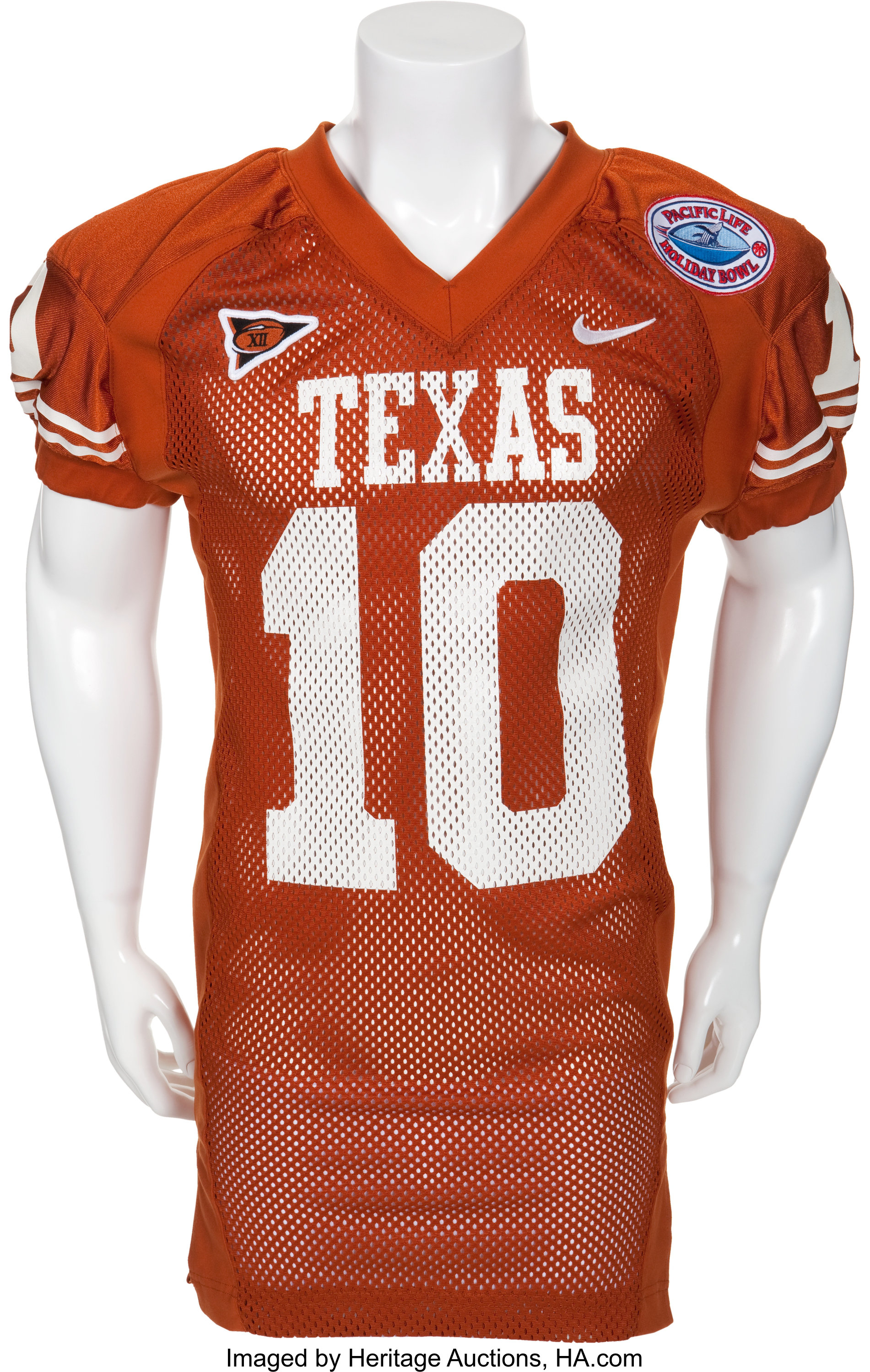 2003 Vince Young Game Worn University of Texas Longhorns Jersey ...