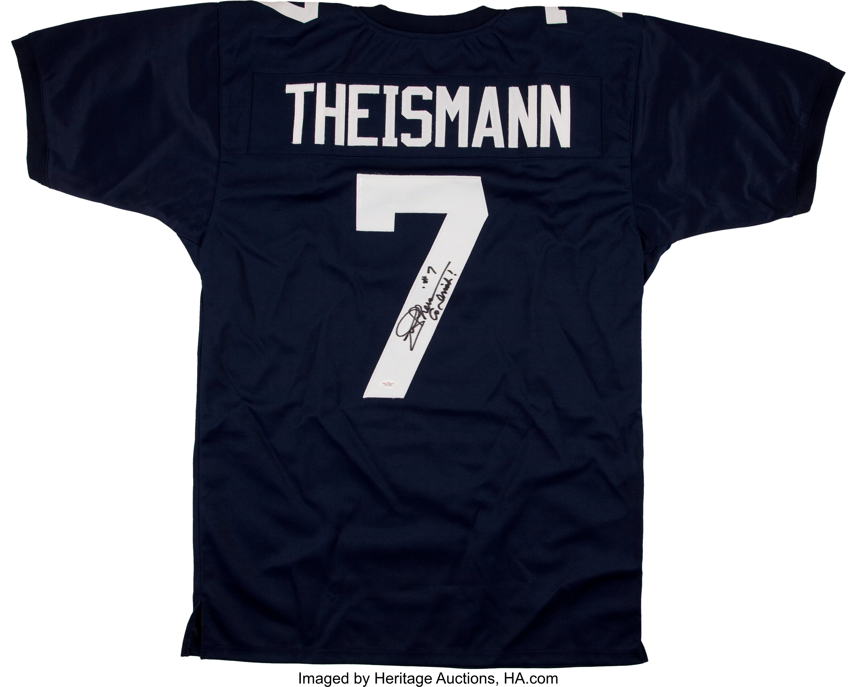 Joe Theismann Signed Notre Dame Jersey.... Football Collectibles ...