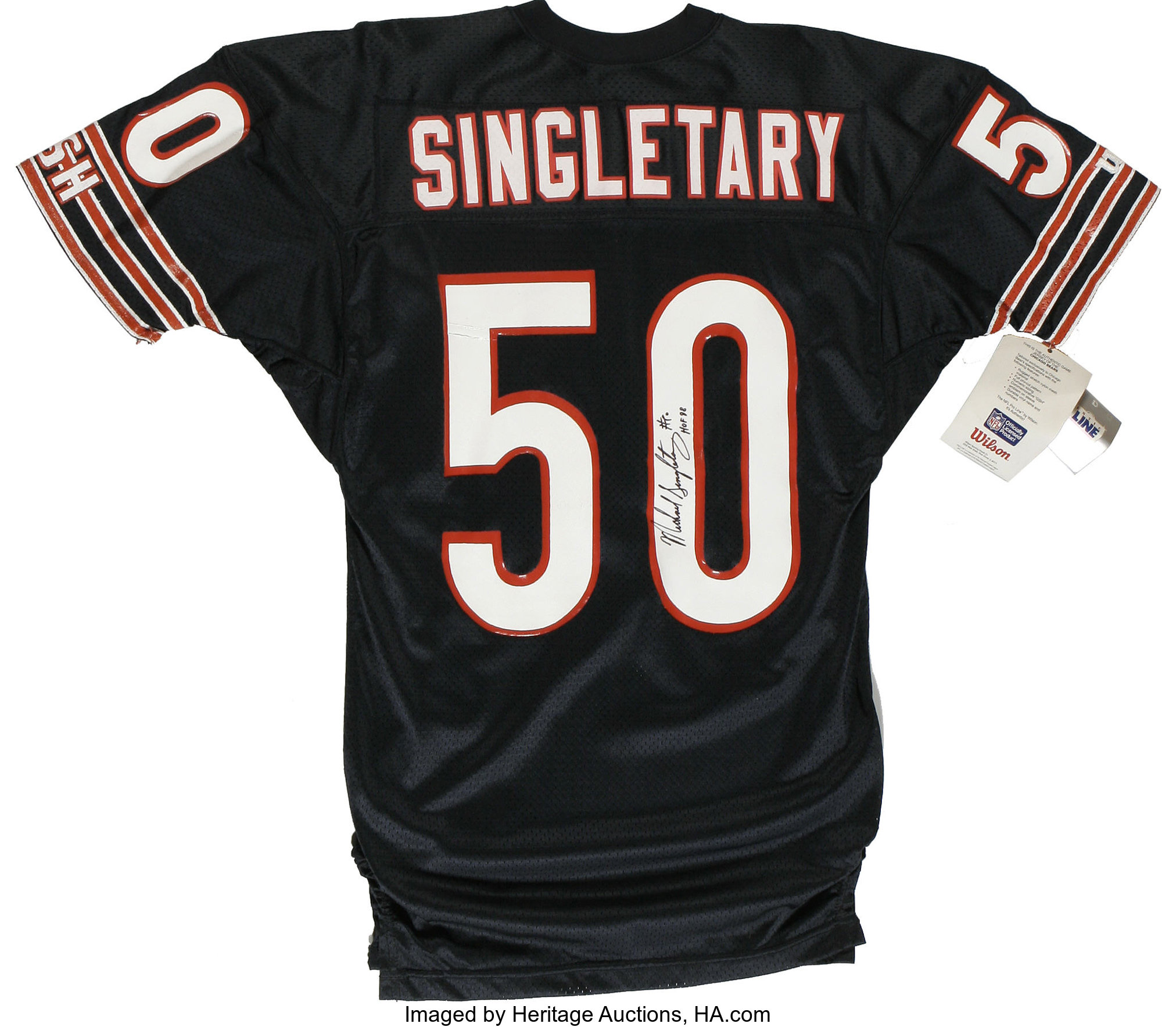 Mike Singletary Signed Jersey. The legendary linebacker for the ...