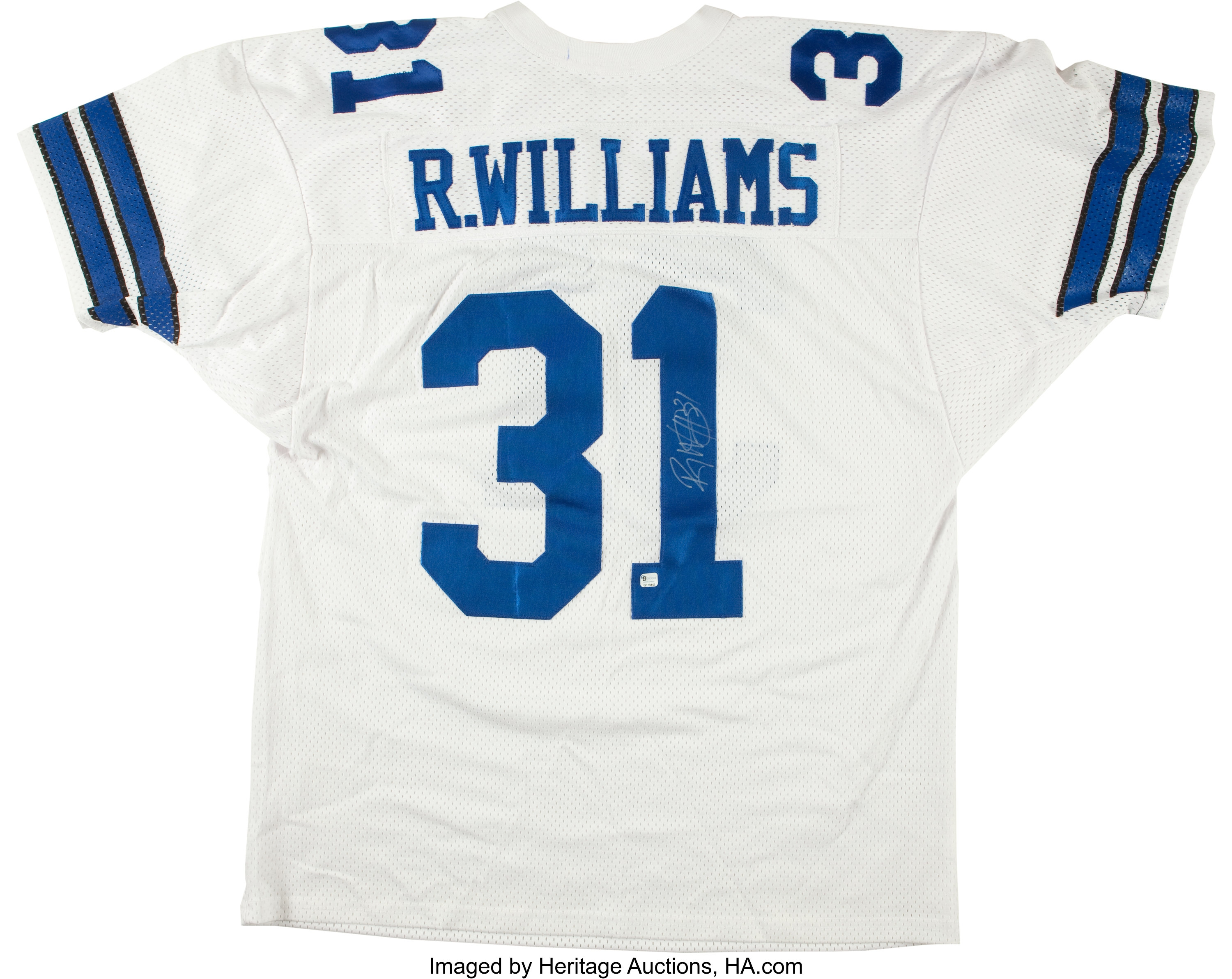 Roy Williams Signed Dallas Cowboys Jersey.... Football ...