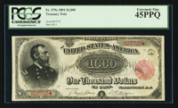 Fr. 379c $1000 1891 Treasury Note PCGS Extremely Fine 45PPQ